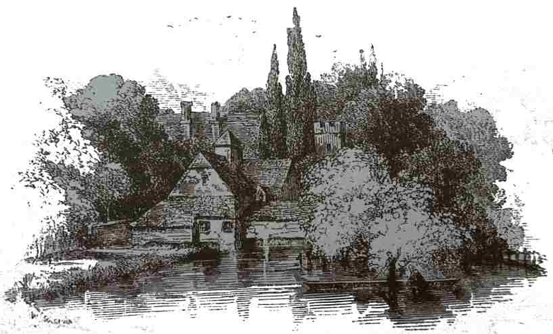 Mapledurham antique print