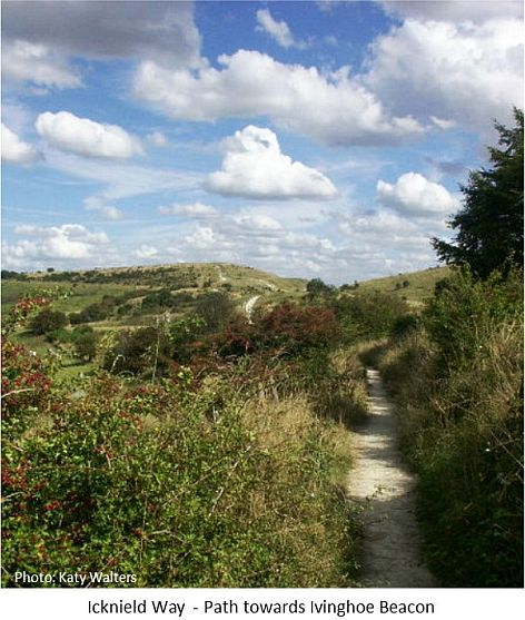 path towards ivinghoe beacon