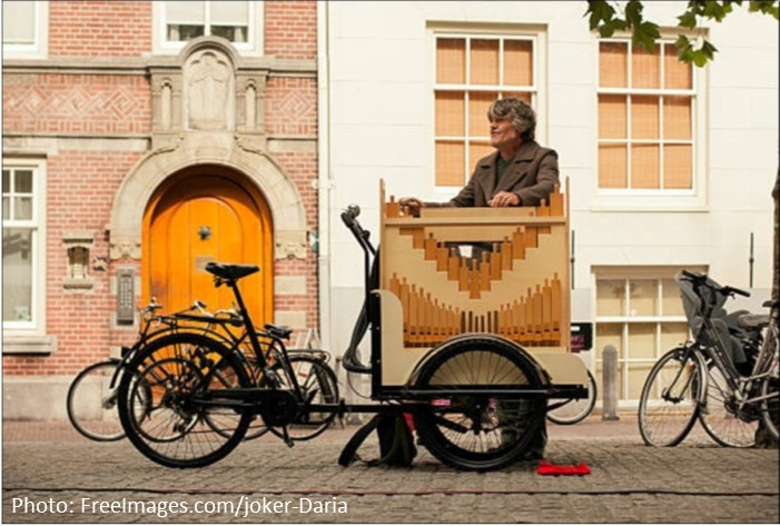 Barrel Organ on Cargo Bike