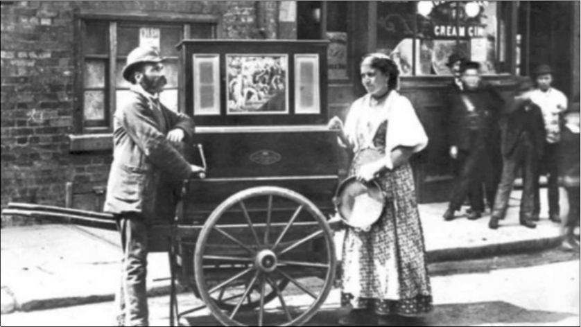Barrel Organ on Handcart
