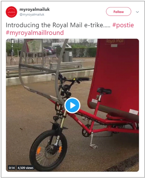 Royal Mail Cargo Tricycle