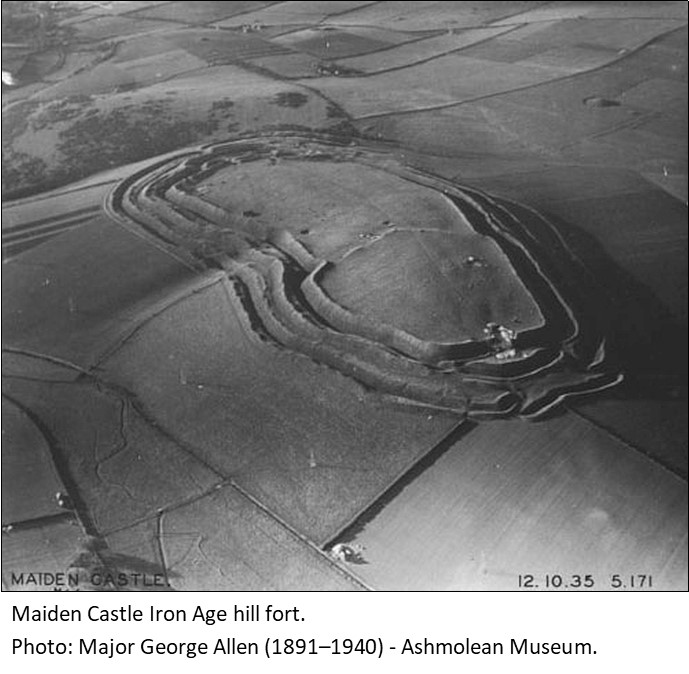 Aerial photograph of Maiden Castle 1935