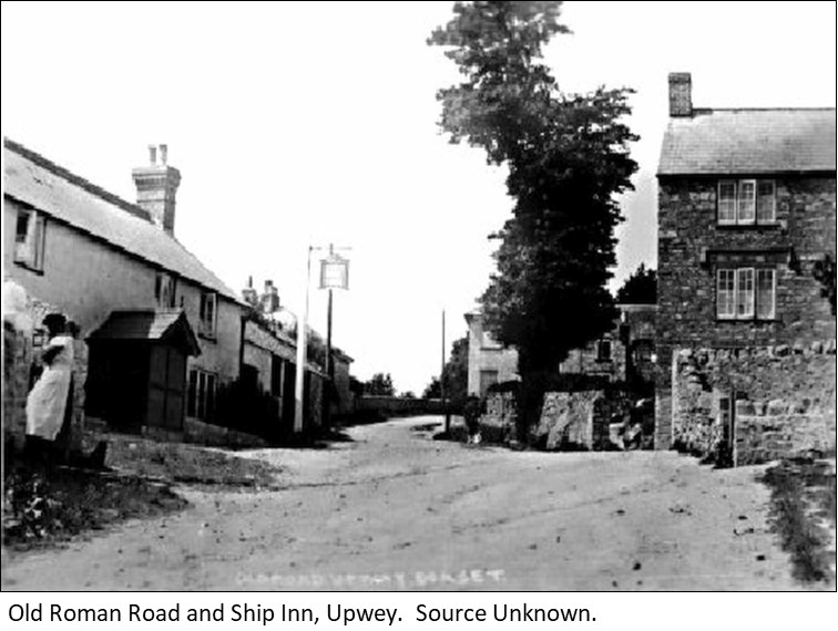 Old Roman Road and Ship Inn Upwey