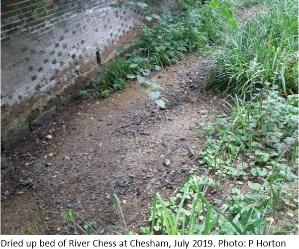Dried up bed of River Chess