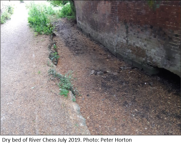 Dry bed of River Chess July 2019