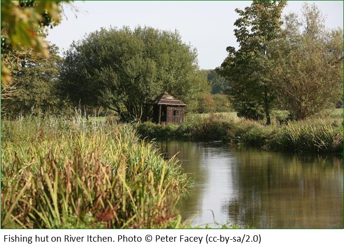 Fishing hut on River Itchen