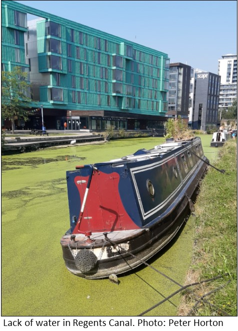 Lack of water in Regents Canal
