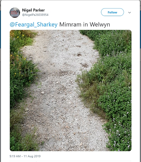 Nigel Parker River Mimram tweet