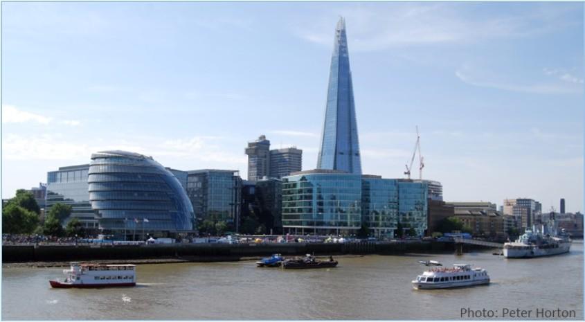 City Hall and Shard London UK