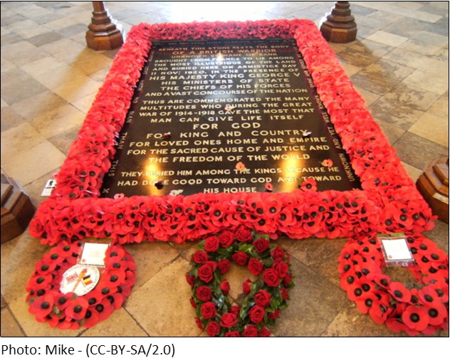 Tomb of the Unknown Warrior WestminsterAbbey